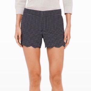 Club Monaco Polka Dot Scalloped Shorts Size 4